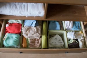 Baby's divided drawer