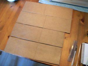 Cut pieces of cardboard