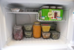 Working on freezer