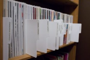 Comic library dividers