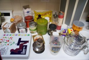Contents of the cabinet