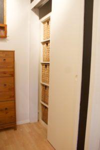 Closet after (left side)