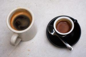 Americano and espresso
