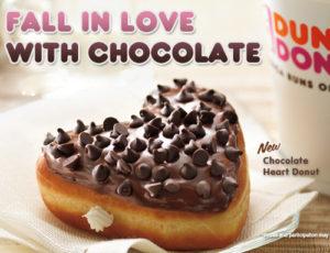 Chocolate heart donut