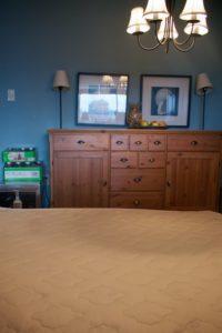Mattress in dining room